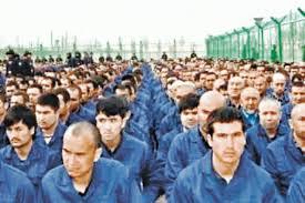imprisoned Uyghurs